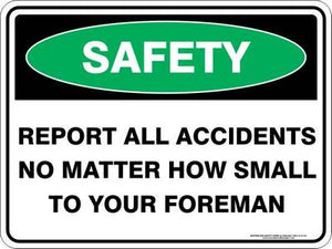 Emergency Sign - Safety Report All Accidents