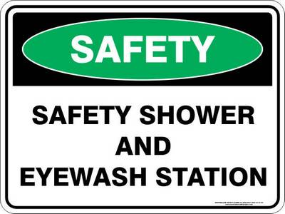 Emergency Sign - Safety Shower and Eye Wash Station
