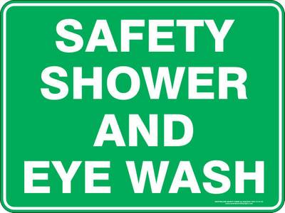 Emergency Sign - Safety Shower and Eye Wash