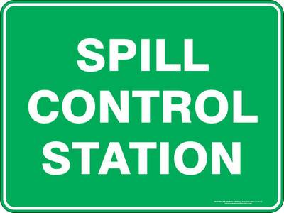 Emergency Sign - Spill Control Station