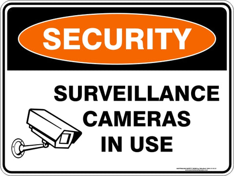 Security Sign - Surveillance Cameras In Use