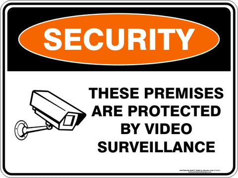 Security Sign - These Premises Protected