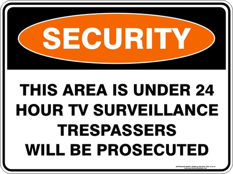 Security Sign - This Area Under TV Surveillance