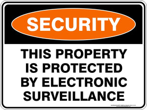 Security Sign - This Property is Protected