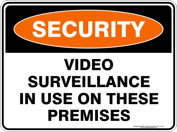 Security Sign - Video Surveillance In Use