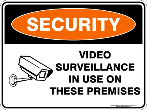 Security Sign - Video Surveillance In Use Camera