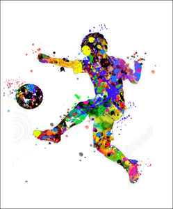 Soccer Boy Wall Art #1 - 45cm x 56cm Removable and Repositionable Wall Decal