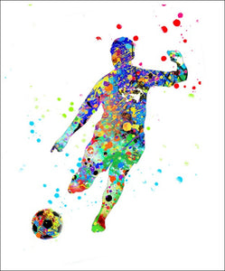 Soccer Boy Wall Art #4 - 45cm x 56cm Removable and Repositionable Wall Decal