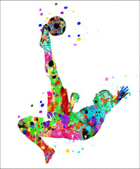 Soccer Girl Wall Art #12 - 45cm x 56cm Removable and Repositionable Wall Decal