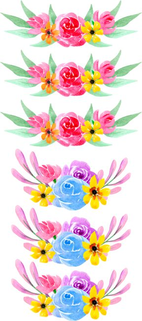 Flower Rosettes Wall Stickers