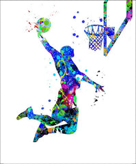 Basketball Wall Art #M2 - 45cm x 56cm Removable and Repositionable Wall Decal