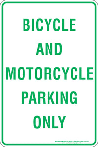 Parking Sign - Bicycle and Motorcycle
