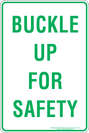 Parking Sign - Buckle Up