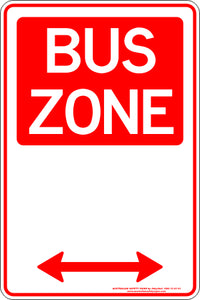 Parking Sign - Bus Zone