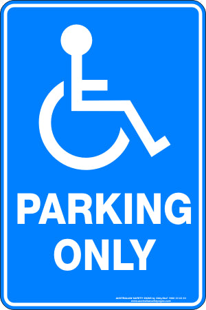 Parking Sign - Disabled Parking Only