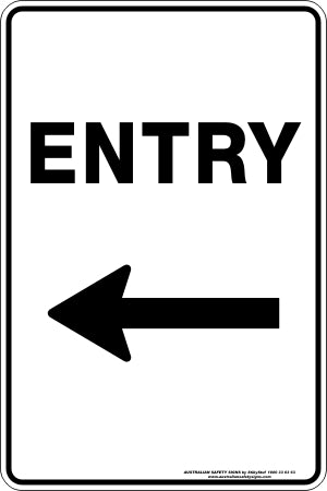 Parking Sign - Entry Arrow Left