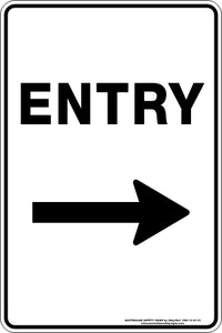 Parking Sign - Entry Arrow Right