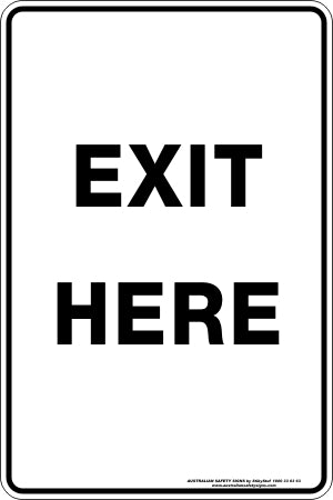 Parking Sign - Exit Here