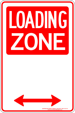 Parking Sign - Loading Zone