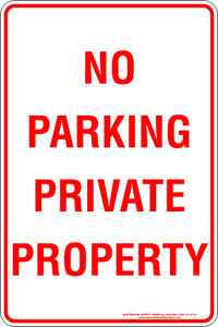 Parking Sign - No Parking Private Property