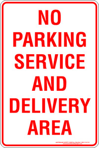 Parking Sign - No Parking Delivery