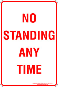Parking Sign - No Standing Any Time
