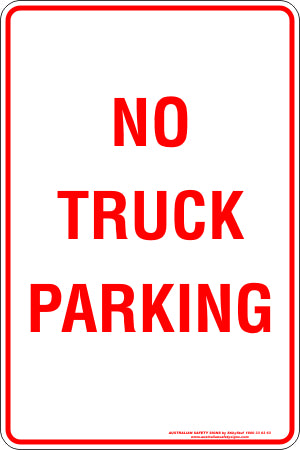 Parking Sign - No Truck Parking