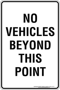 Parking Sign - No Vehicles