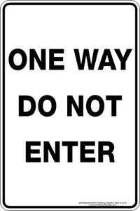 Parking Sign - One Way