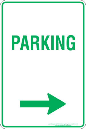 Parking Sign - Parking Arrow Right