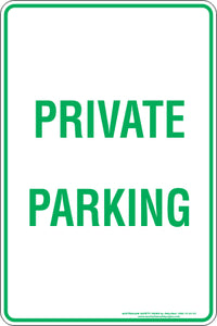 Parking Sign - Private Parking