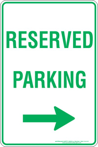 Parking Sign - Reserved Parking Right