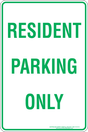 Parking Sign - Resident Parking Only