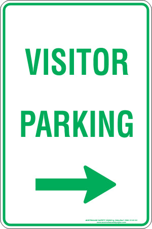 Parking Sign - Visitor Parking Right