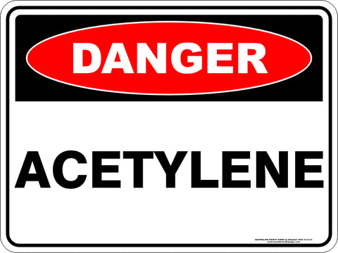 Danger Sign - Acetylene