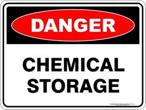 Danger Sign - Chemical Storage