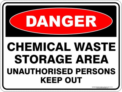 Danger Sign - Chemical Waste