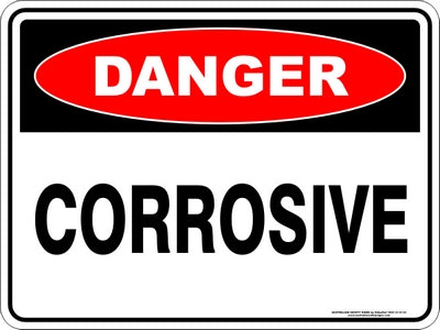 Danger Sign - Corrosive