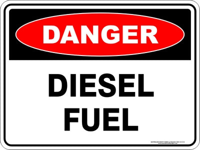 Danger Sign - Diesel Fuel
