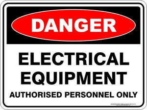 Danger Sign - Electrical Equipment