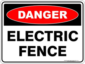 Danger Sign - Electric Fence