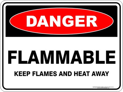 Danger Sign - Flammable Flames and Heat