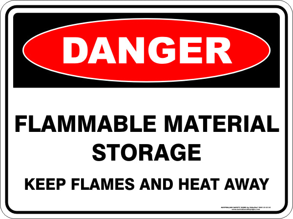 Danger Sign - Flammable Storage