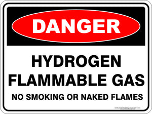 Danger Sign - Hydrogen Flammable Gas