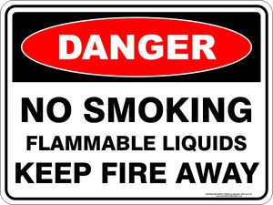 Danger Sign - No Smoking Flammable Liquids