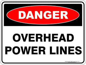 Danger Sign - Overhead Power Lines