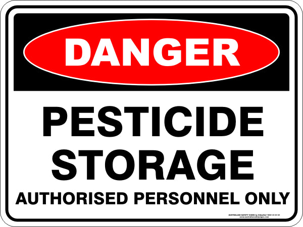 Danger Sign - Pesticide Storage