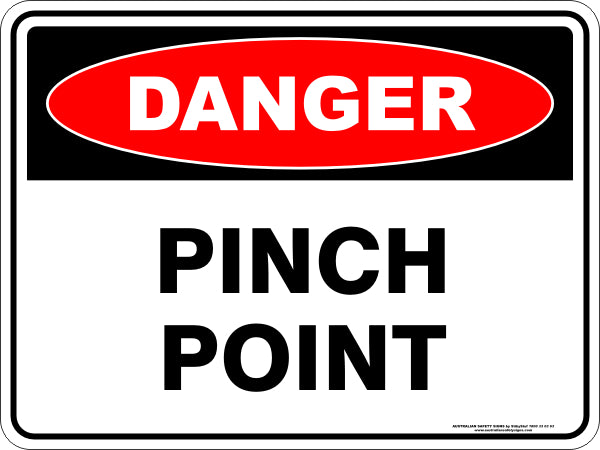 Danger Sign - Pinch Point