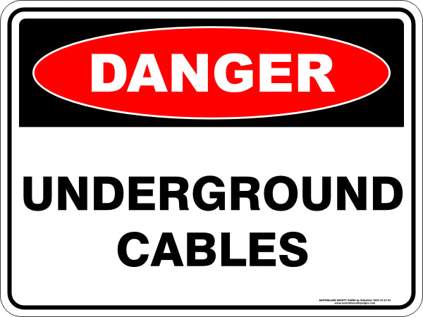 Danger Sign - Underground Cables
