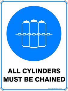 Mandatory Sign - Chain All Cylinders